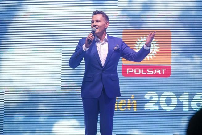 Krzysztof Ibisz na prezentacji jesiennej ramówki Polsatu (fot. akpa)