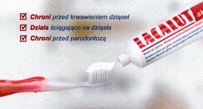 Po skardze od konkurenta KER uznała, że reklama pasty do zębów Lacalut Aktiv wprowadza w błąd