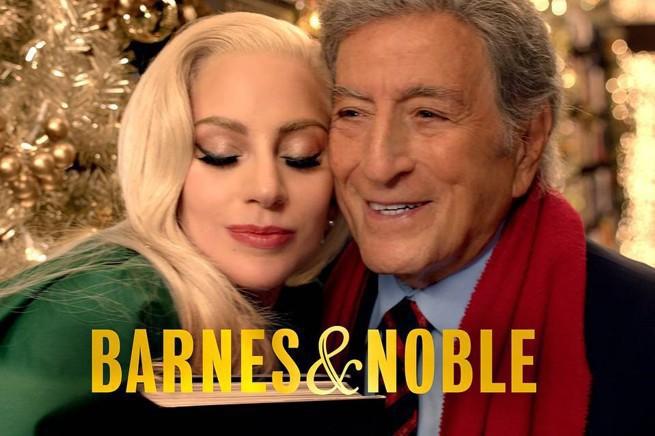 Lady Gaga i Tony Bennett w świątecznej reklamie Barnes & Noble