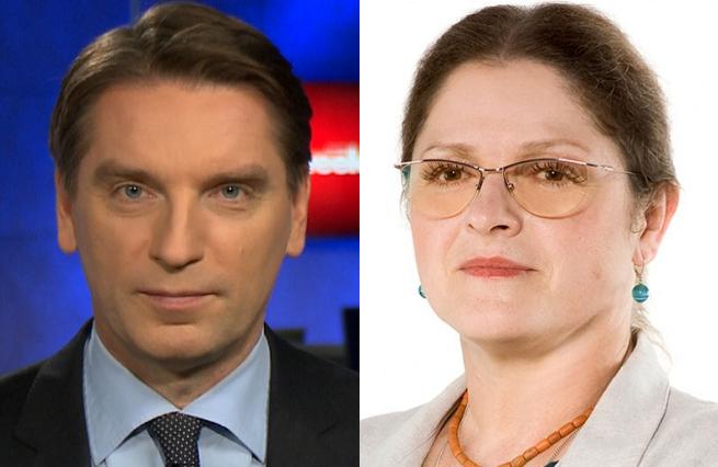 Tomasz Lis i Krystyna Pawłowicz