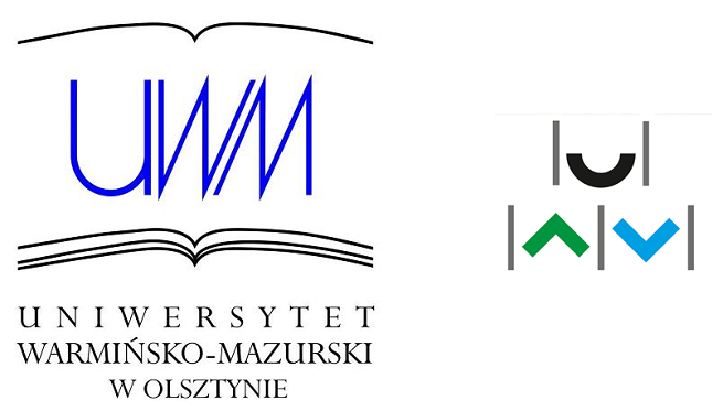 Po lewej: poprzedni logotyp UWM, po prawej: nowy logotyp UWM