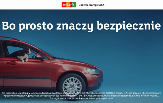 """""""Bo prosto znaczy bezpiecznie"""" - mBank reklamuje ubezpieczenia od AXA (wideo)"""