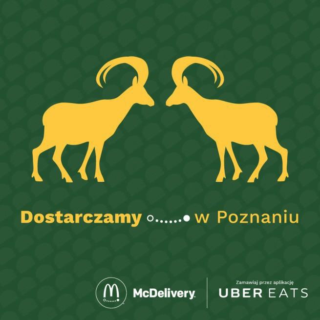 McDonald's: dostawy w UberEATS także w Poznaniu