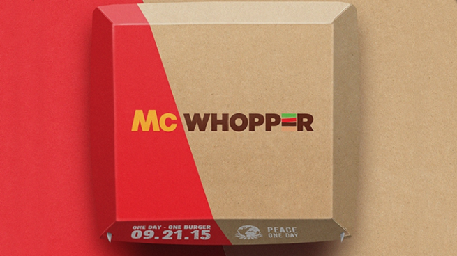 Propozycja wspólnego produktu od Burger Kinga dla McDonald's marketingową perełką