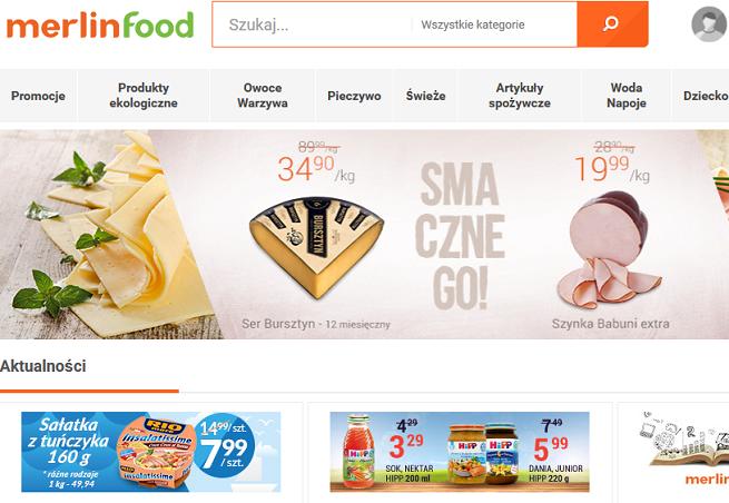 Merlin.pl i Alma uruchomili e-sklep spożywczy Merlinfood.pl