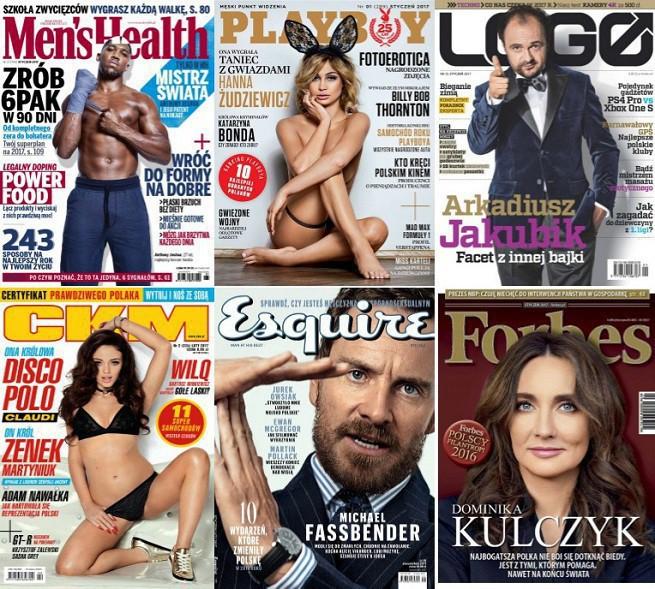 """""""Men's Health"""" na czele sprzedaży w 2016 roku. """"Logo"""" wyprzedziło """"CKM"""""""