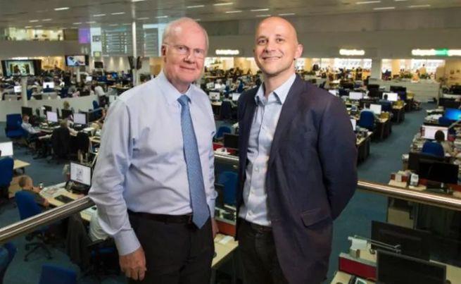 Murdoch MacLennan (z lewej) i Nick Hugh, fot. The Telegraph