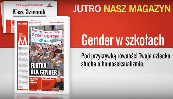"""TVP zmusiła """"Nasz Dziennik"""" do złagodzenia spotu: zamiast gender i homoseksualizmu w szkołach cytat z Mickiewicza (wideo)"""