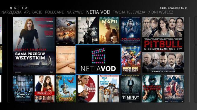 Netia uruchamia platformę VoD, od 4,99 do 9,99 złotych za jeden film