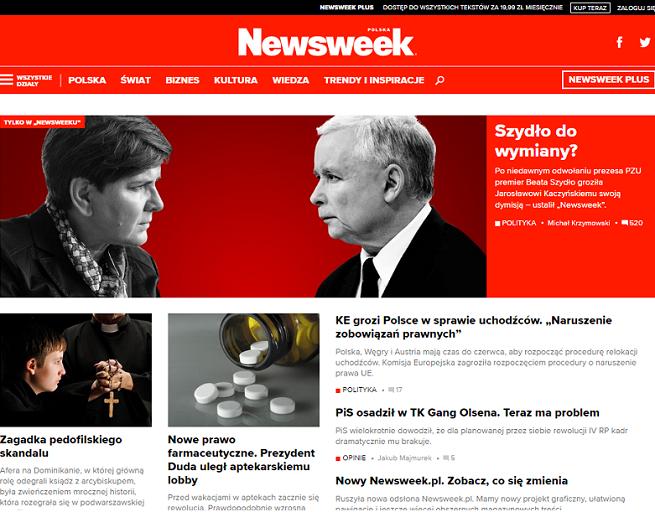 """Serwis """"Newsweeka"""" w nowej odsłonie: wyeksponowana publicystyka, więcej o kulturze, nauce i stylu życia"""