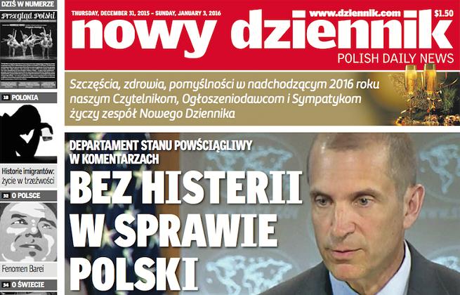 """Polonijny """"Nowy Dziennik"""" zmienia się w tygodnik z powodu malejącej sprzedaży"""