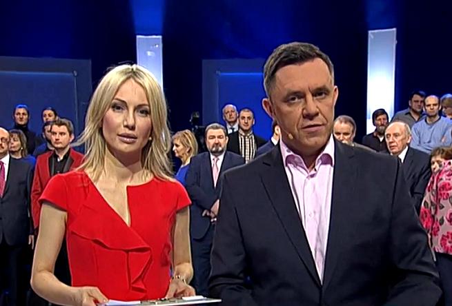 Magdalena Ogórek i Jacek Łęski, fot. TVP Info