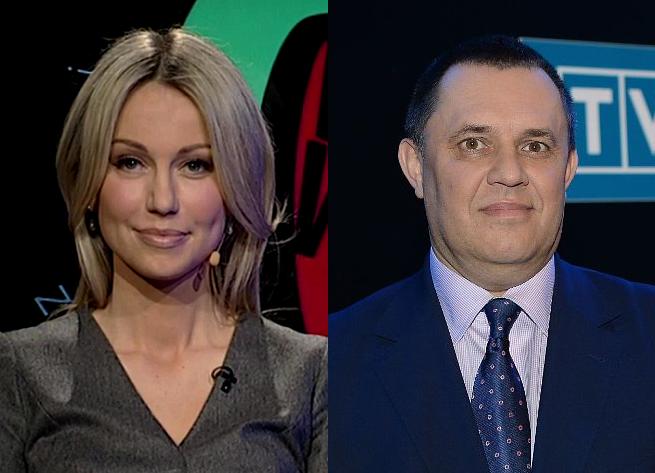Magdalena Ogórek i Jacek Łęski, fot. TVP