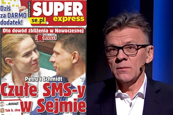 """SDP krytykuje tekst """"Super Expressu"""" z SMS-ami Petru i Schmidt oraz prowokację Pawlickiego w TVP Info"""