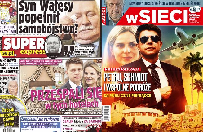 """Ryszard Petru chce pozwać i oskarżyć """"W Sieci"""" i """"Super Express"""" za teksty o jego wyjazdach z Joanną Schmidt"""