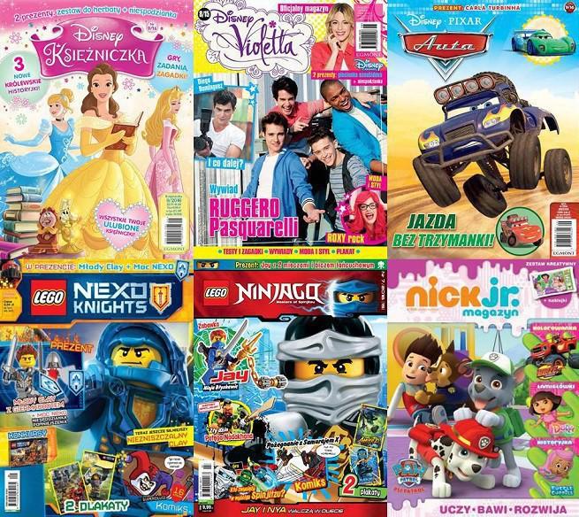 """""""Lego Nexo Knights"""" liderem sprzedaży wśród pism dziecięcych. """"Lego Friends. Magazyn"""" z największym wzrostem"""
