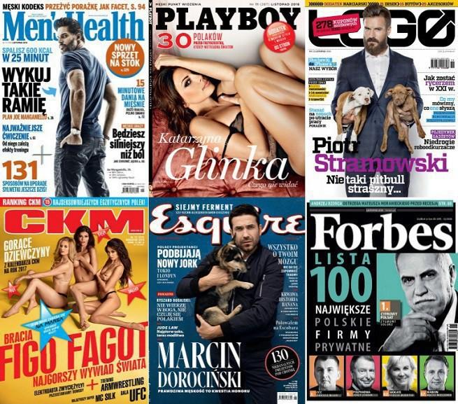 """""""Men's Health"""" liderem pism dla mężczyzn w listopadzie. Wzrosła sprzedaż """"Forbesa"""""""
