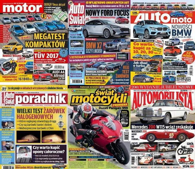 """""""Motor"""" liderem sprzedaży wśród pism motoryzacyjnych, """"Auto-Moto"""" zyskało najwięcej"""