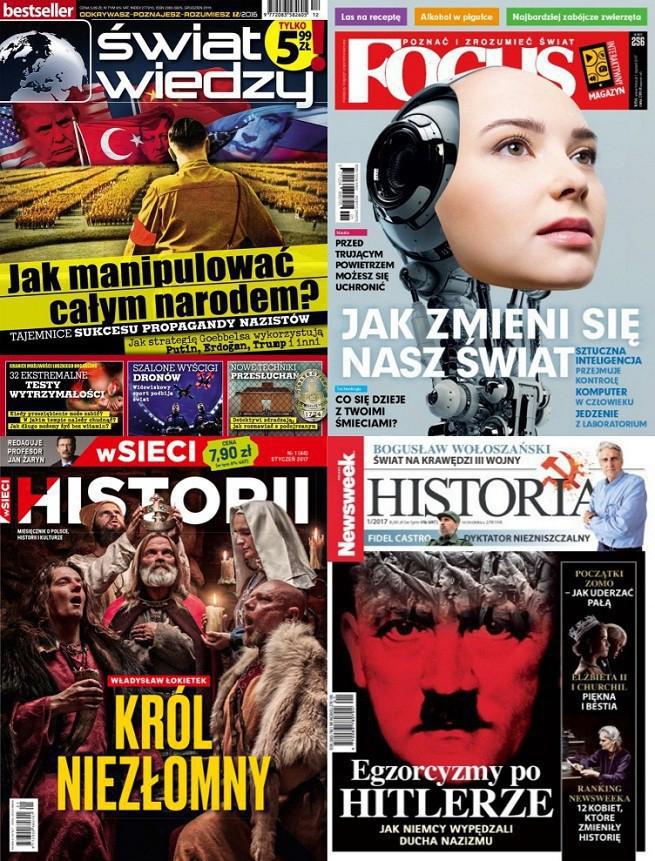 """Wszystkie miesięczniki popularnonaukowe i historyczne na minusie. """"Świat Wiedzy"""" i """"W Sieci Historii"""" najchętniej kupowane"""