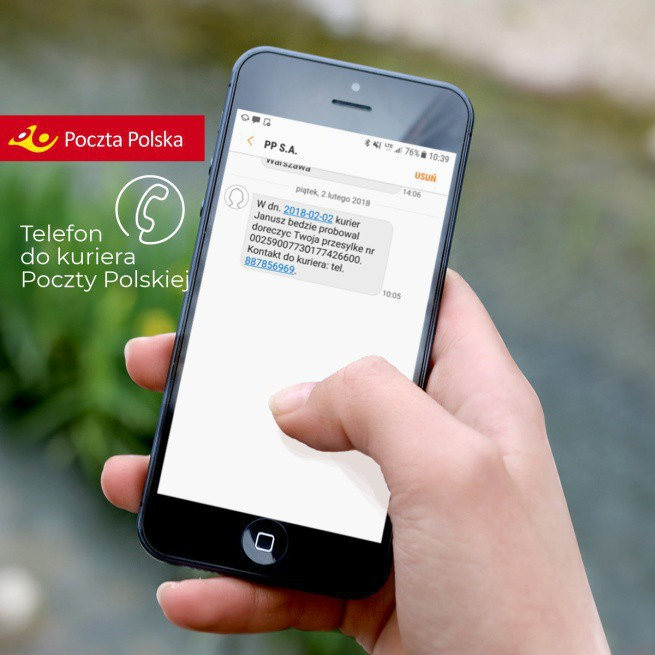 Poczta Polska wyśle SMS-em numer telefonu do kuriera