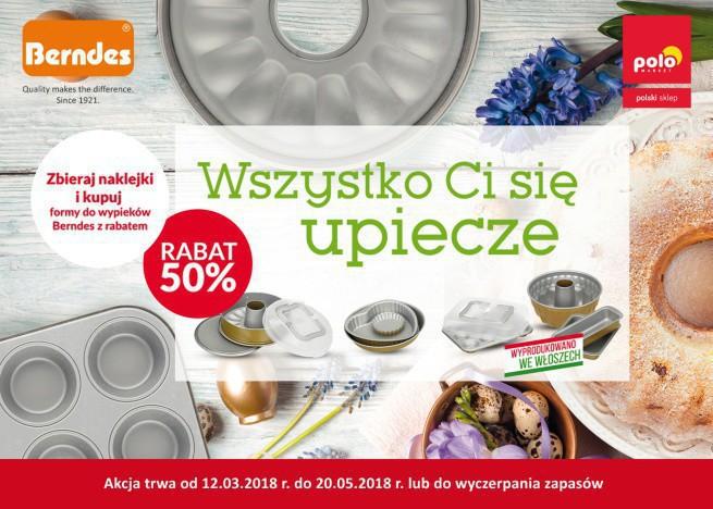 Polomarket: naklejkowa promocja z formami do pieczenia Berndes