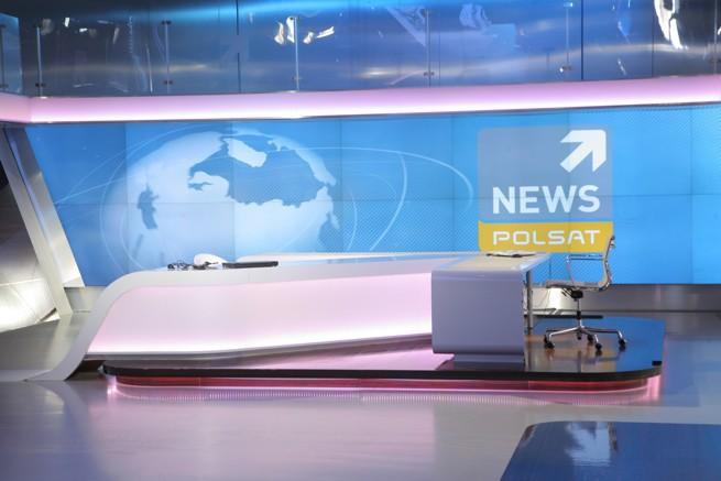 Studio Polsat News (fot. Polsat/Studio69)