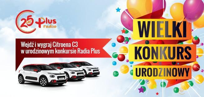 Radio Plus świętuje 25 urodziny i rozdaje samochody Citroen C3