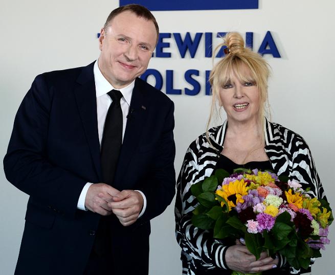 Jacek Kurski i Maryla Rodowicz, fot. Jan Bogacz/TVP