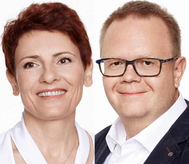Edyta Sadowska i Marcin Biegluk