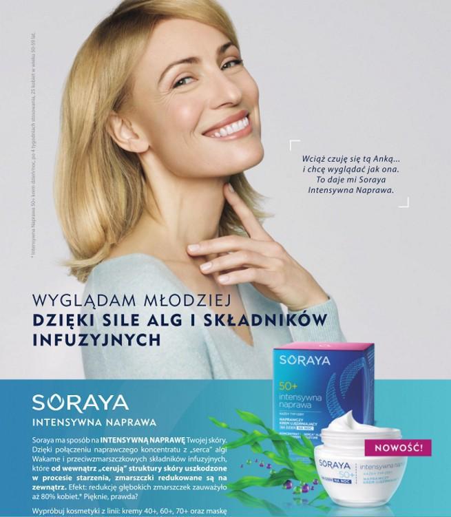 Anna, dla przyjaciół Anka, reklamuje kremy Soraya Intensywna Naprawa (wideo)