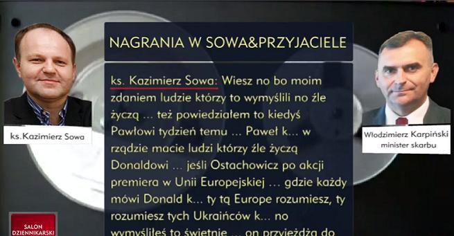 TVP Info przez cały weekend ujawniało podsłuchane rozmowy z ks. Sową, TVN i Polsat o nich milczą