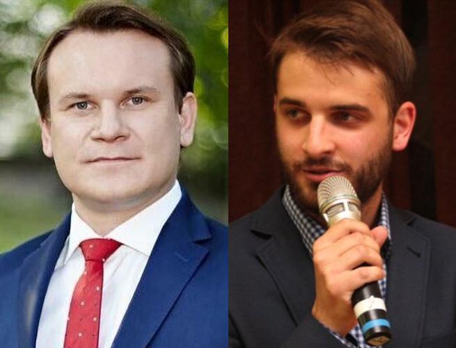 Dominik Tarczyński i Janusz Schwertner
