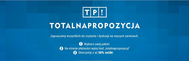 """""""Totalna propozycja"""" Gazety Wyborczej dla pracowników TVP -  specjalna zniżka na cyfrową prenumeratę"""