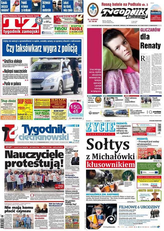 """Tylko """"Tygodnik Człuchowski"""" ze wzrostem sprzedaży w 2017 roku, """"Tygodnik Zamojski"""" najchętniej kupowany"""