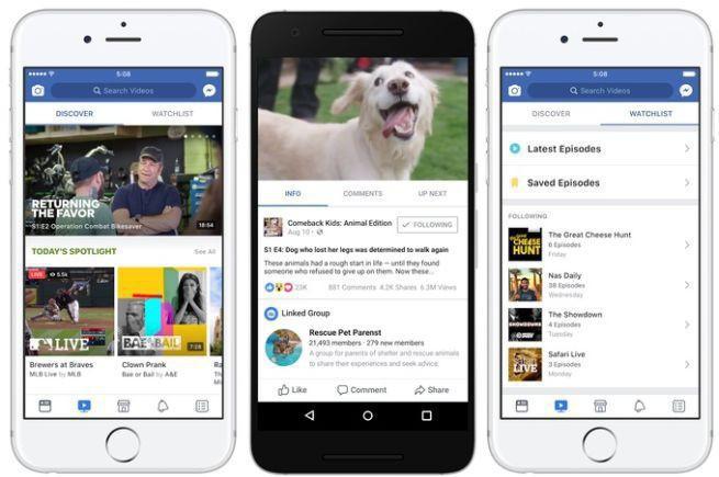 Facebook wprowadza platformę Watch z własnymi treściami wideo