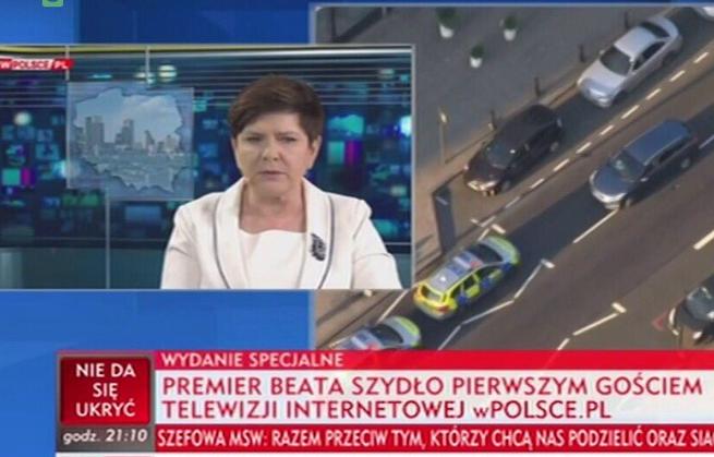 TVP Info pokazało wywiad z Beatą Szydło na start wPolsce.pl. Dziennikarze krytykują: to przesada