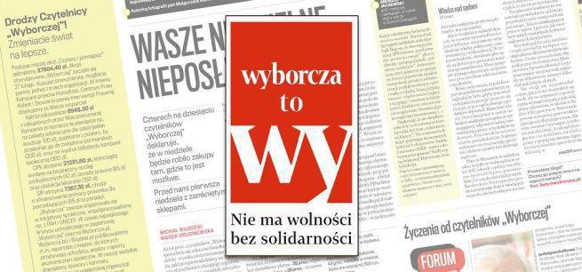 """""""Gazeta Wyborcza"""": cotygodniowa rubryka """"Wyborcza to WY"""" z opiniami czytelnikami"""