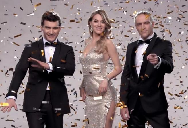 Entuzjazm gwiazd w konfetti promuje wiosenną ramówkę Telewizji Polskiej (wideo)