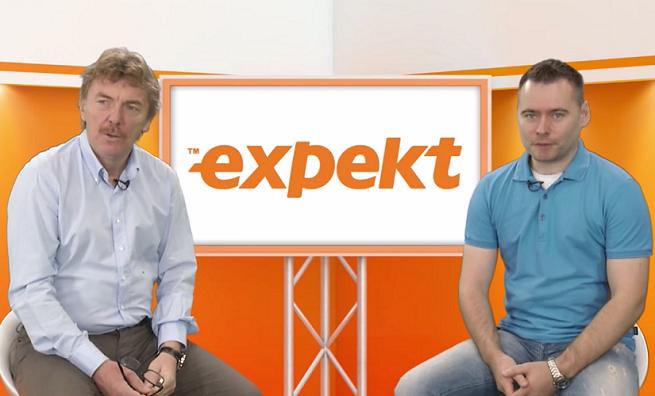 Zbigniew Boniek i Krzysztof Stanowski w klipie promującym Expekt