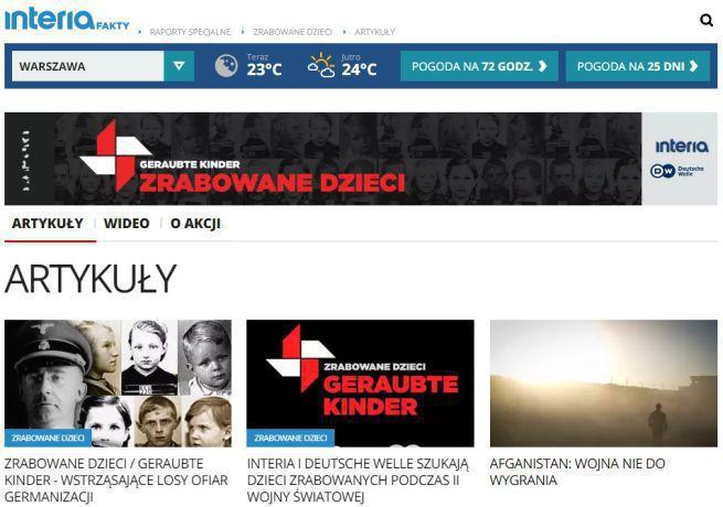 """Interia.pl i Deutsche Welle szukają dzieci zrabowanych w czasie II wojny światowej. """"Odkryć prawdę o ich pochodzeniu"""""""