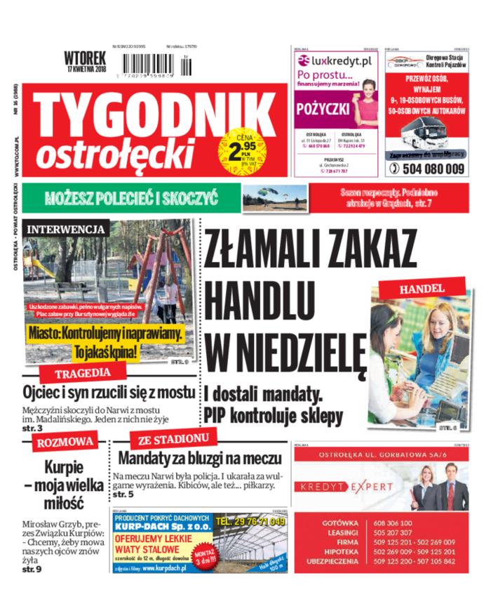 Tygodnik Ostrołęcki -                     16/2018