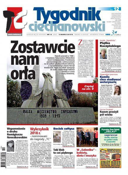 Tygodnik Ciechanowski -                     2019-03-22