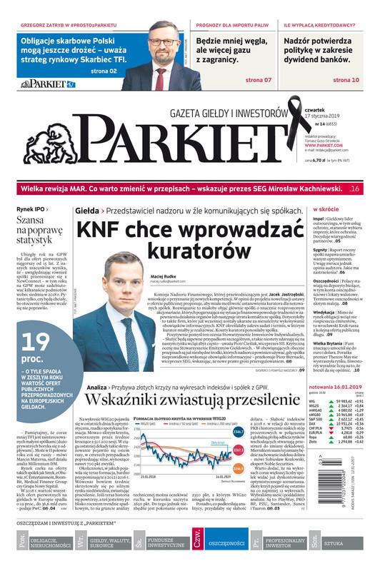 Parkiet -                     2019-01-17