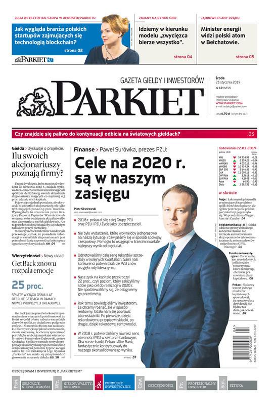 Parkiet -                     2019-01-23