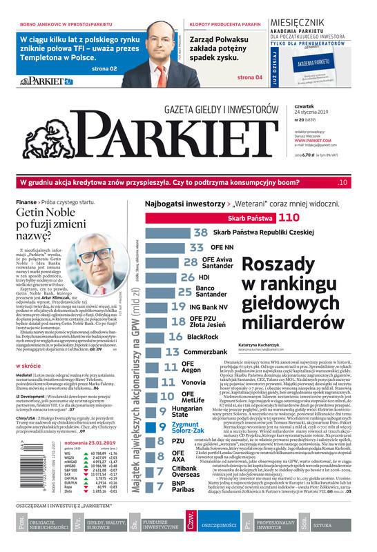 Parkiet -                     2019-01-24
