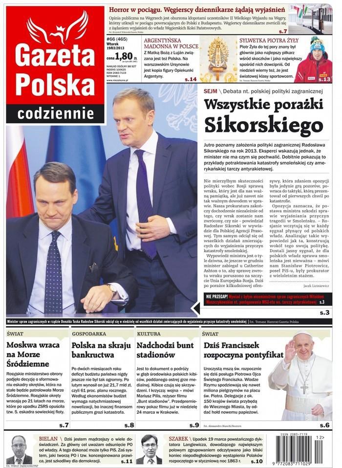 Gazeta Polska Codziennie -                     2013-03-19