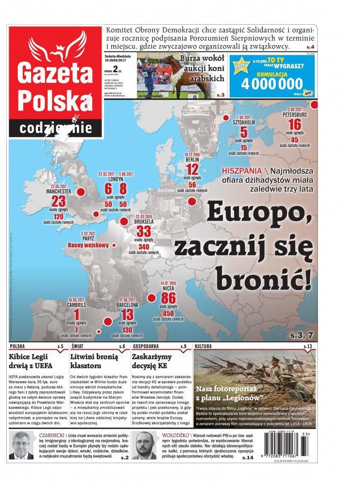 Gazeta Polska Codziennie -                     2017-08-19