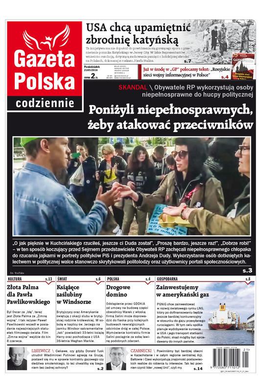 Gazeta Polska Codziennie -                     2018-05-21