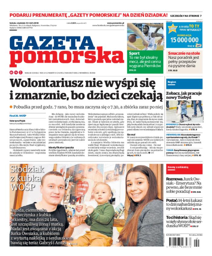 Gazeta Pomorska -                     2018-01-13