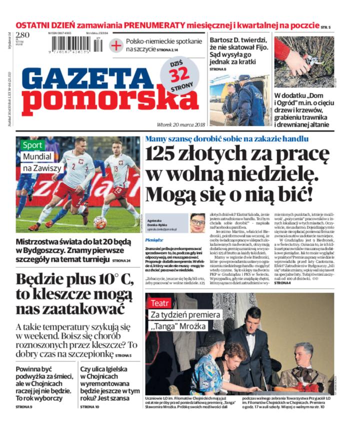Gazeta Pomorska -                     2018-03-20